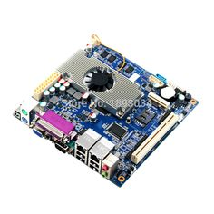 In Stock !!! motherboard mini itx  atom pc motherboard with fan with Intel Atom D2550+NM10 express chipset #Affiliate