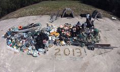 A NOAA team recently removed an '18-wheeler's worth' of #marine debris from Mid-Pacific Waters. The 14 metric tons of debris included fishing gear, #plastic, and other #debris from the shoreline and waters around Midway Atoll.