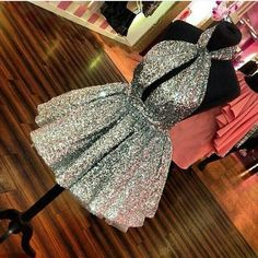 """5 Likes, 1 Comments - Prom (@promfashioninsta) on Instagram: """"#silver #promdress #cocktaildress Only share beautiful photos the right belongs to their owners"""""""