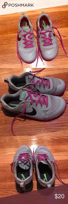 best sneakers 5f0b5 b7ab5 Nike Metcon 1 Gray with purple laces women s Nike metcon 1 training shoe  Nike Shoes Sneakers