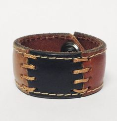 Perfect for the hipster kid!  In Stitches Patchwork Leather Cuff Bracelet by BuffaloGoods, $12.00