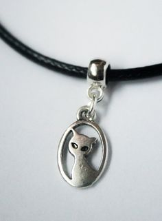 Cat Choker - 90s Handmade Retro Waxcord Choker Necklace