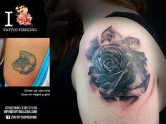 Cover de una rosa.De Yarda en ZUK Tattoo Piercing de Lleida