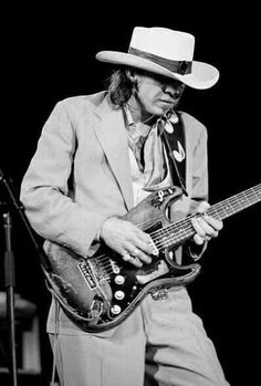 Stevie Ray Vaughan Performs At The Chicago Blues Fest. Petrillo Music Shell, Grant Park. June 7th 1985.