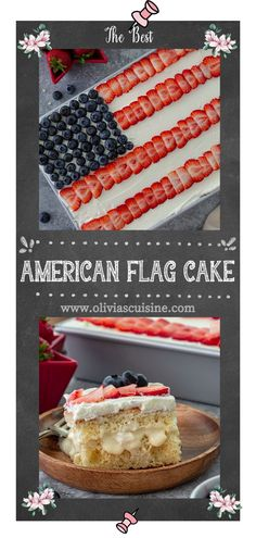 An American Flag Cake that not only looks pretty and patriotic but also tastes amazing? Yes, it exists! This easy American Flag Cake recipe makes an eye-catching centerpiece for your Memorial Day or Fourth of July celebrations. This is the BEST patriotic American Flag Cake that you'll come back to over and over again! #americanflag #cake American Flag Cake, Sweet Condensed Milk, Stabilized Whipped Cream, Sponge Cake, Cake Pans, Fourth Of July, Memorial Day, Vanilla Cake, Frosting