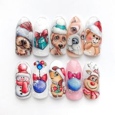 Get inspired and share your best photos Find your home among the world Halloween Nail Designs, Christmas Nail Designs, Winter Nail Art, Winter Nails, Nail Art Noel, Nail Art Printer, Christmas Gel Nails, Nail Art For Kids, Animal Nail Art