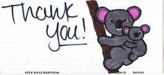 Thankful Koala, by Sabrina.