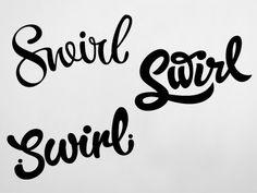 swirl lettering