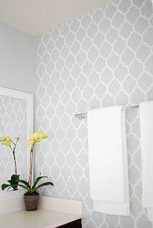 Beautiful wall stencil