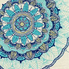 Wandering Soul by Rskinner1122 | Blue mandala. Click through for prints of this artwork (cards, phone cases etc.)!