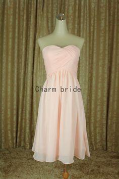 Pearl pink Bridesmaid Dresses affordable Bridesmaid Dress Prom Dress Party Dress on Etsy, $68.99