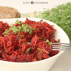 salat-z-mrkve-a-cervene-repy Shrimp, Salads, Recipes, Ripped Recipes, Salad, Cooking Recipes, Chopped Salads