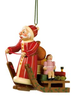 Rothenburger Weihnachtswerkstatt Weihnachtsmann mit Schlitten