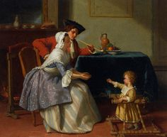 18th century genre paintings | ... art #XIX century #vintage #Jean Carolus #rococo #genre painting #