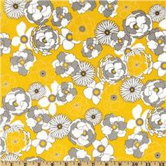 Night And Day Floral Grey/White/Yellow Item Number: DR-969 Our Price: $8.98 per Yard Compare At: $9.99 per Yard
