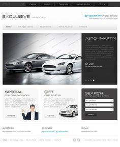 Car Rentals  Web Site Template