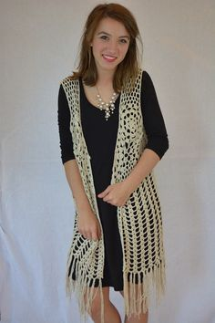 Crazy Cool Vest ~ Ivory from The Muddy Pearl