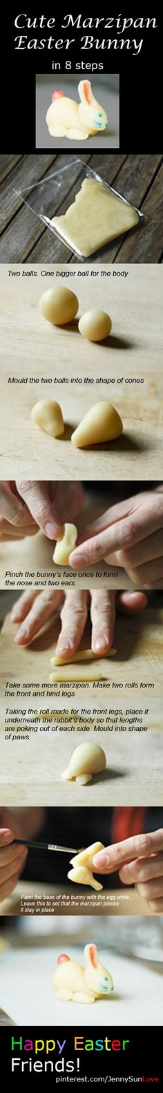 how to make a marzipan (easter) bunny in 8 steps