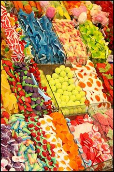 So Many Sweet Choices Candy Factory, Junk Food Snacks, Goodies, Food Wallpaper, Pick And Mix, Colorful Candy, Favorite Candy, Food Goals, Chocolate Factory