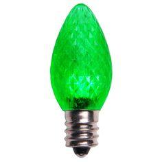 House - C7 Green LED Christmas Light Bulbs