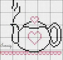 Cross Stitch Kitchen, Mini Cross Stitch, Cross Stitch Rose, Modern Cross Stitch, Cross Stitch Designs, Cross Stitch Patterns, Loom Patterns, Beading Patterns, Crochet Patterns