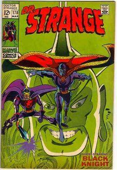 dr. strange covers   Doctor Strange 178 - Black Knight - Large Head - Sword - Masks ...