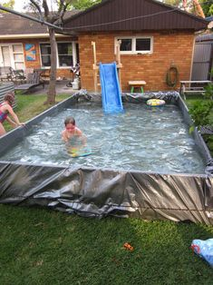 1000 images about giant diy backyard paddling pool on for Diy garden pool