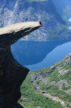 Trolltunga, Norway.  Don't slip!
