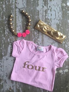 A personal favorite from my Etsy shop https://www.etsy.com/listing/278596064/birthday-toddler-girls-pink-with-gold