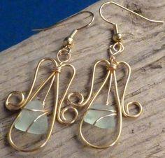 Wire Angel Earrings