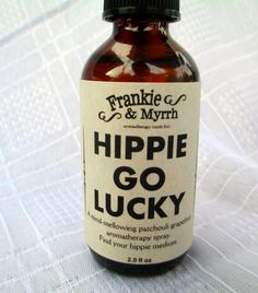Hippie Go Lucky --- A Mind Mellowing Patchouli and Grapefruit Aromatherapy Spray/Perfume/Cologne --- Find Your Hippie Medium on Etsy, $15.00