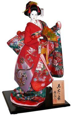 Japanese traditional kimono doll, 1970's.