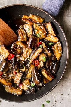 No pinnable image :( This Vegan Chinese Aubergine from Lazy Cat Kitchen looks delicious, I can't wait to try it!