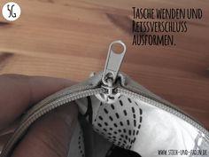 Reißverschluß einnähen: Die fertige Tasche