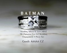 BATMAN BLACK WEDDING BAND RING SIZE 713 USA BATMAN RETURNS RING