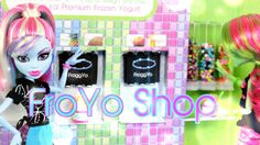 How to Make a Doll FroYo Shop - Doll Crafts
