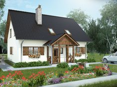 Znalezione obrazy dla zapytania wiejski domek Cottage Homes, My Dream Home, Future House, House Plans, Shed, New Homes, Home And Garden, Farmhouse, Outdoor Structures