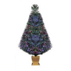 "Artificial Christmas Trees Pre-Lit 32"" Fiber Optic Artificial Tree Holiday Decor #HolidayTime"
