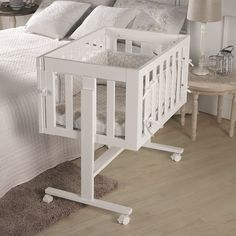 Buy Micuna Cododo Co-Sleeper Cradle White - This cradle becomes a desk and chair when your baby becomes a toddler #Howaboutthat