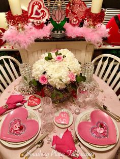 Smashing Plates Tablescapes: Sweethearts Forever XOXO