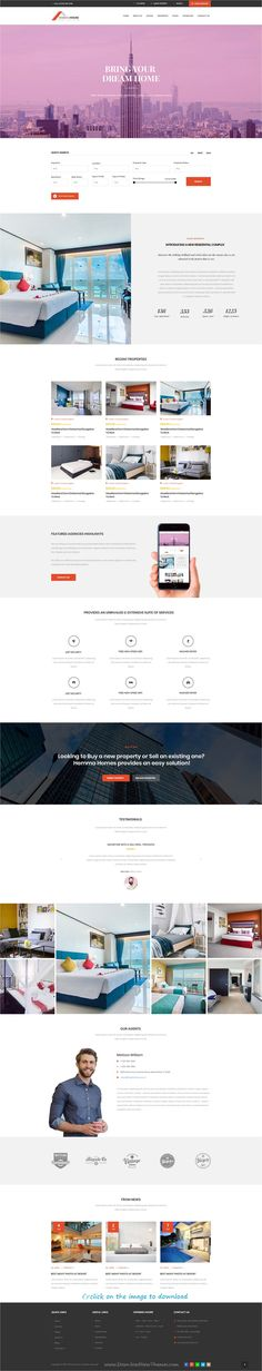 Hemma is clean and modern design #PSD template for #realestate and #property listing website with 19 layered PSD pages download click on image.