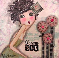 Pastry Shoppe Chrissy 8x8 PRINT of my original by Southendgirlart