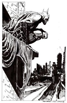 Jordi Bernet, Batman: Blackout (29x43 cm.) - #drawing #comics #batman #dc #dccomics #china #pencil