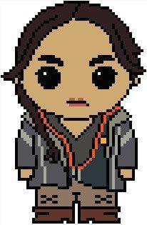 Hunger Games: Katniss Everdeen PDF Chart Cross Stitch Pattern: