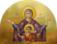 Panagia Platytera with ICXC | Byzantine Iconography Workshop - kopsidas.com
