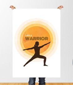 Yoga Poster: Sonnengruß aus dem Fersensitz - Blau   Yoga ...