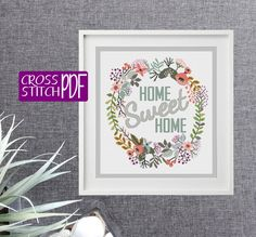 Hey, I found this really awesome Etsy listing at https://www.etsy.com/listing/493410637/cross-stitch-pattern-home-sweet-home