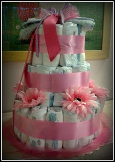 Diappers cake - idea regalo per Baby Shower Party