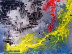 RELÁMPAGO...cartulina pintada acrílico con cristal 30x40cm, cuadro original, Acrílico sobre Cartulina, comprar cuadros