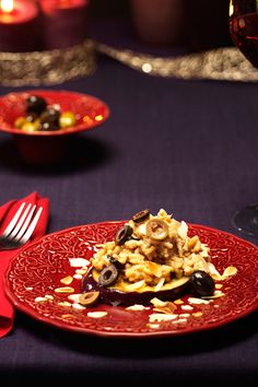 Risotto Melanzane - Olive and eggplant risotto. Visit www.oilvinegar.com for the recipe. - Make your Christmas Sparkle with Oil & Vinegar